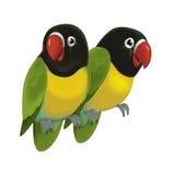 The cartoon bird - parrot - illustration for the children Stock Image