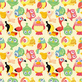 Cartoon bird seamless pattern Stock Photo