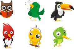Cartoon bird set Stock Images