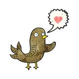 Cartoon bird singing Royalty Free Stock Photo