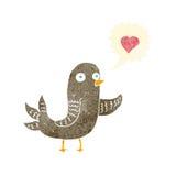 Cartoon bird singing Stock Photography