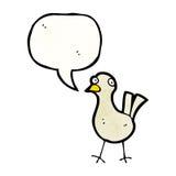 cartoon bird with speech bubble Royalty Free Stock Photography