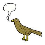 cartoon bird with speech bubble Stock Images