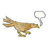 cartoon bird with speech bubble Stock Photography