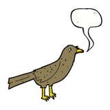 cartoon bird with speech bubble Stock Photos