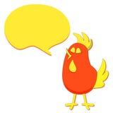 Cartoon Bird with Speech Bubble vector Royalty Free Stock Photo