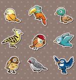 Cartoon bird stickers Stock Photography