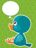 Cartoon bird thinking Royalty Free Stock Image