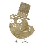cartoon bird wearing hat Stock Image