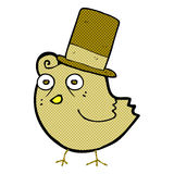 cartoon bird wearing hat Royalty Free Stock Photo