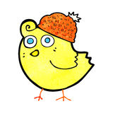 cartoon bird wearing hat Royalty Free Stock Photos