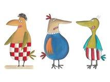 Cartoon birds Royalty Free Stock Photo