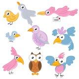 Cartoon Birds Royalty Free Stock Images