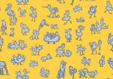 Cartoon birds Pattern Royalty Free Stock Images