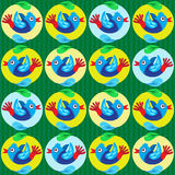 Cartoon Birds Pattern Stock Photo