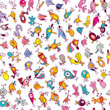 Cartoon birds pattern Stock Photos