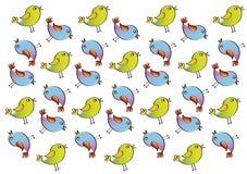 Cartoon birds pattern. Or textures, illustration vector illustration