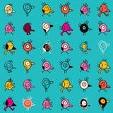 Cartoon birds seamless pattern Stock Photography