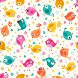 Cartoon birds seamless pattern. Cartoon birds colorful seamless pattern Royalty Free Illustration