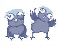 Cartoon birds Stock Photos