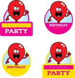 Cartoon Birthday Balloon Graphic. A cartoon illustration of a balloon with a birthday themed graphic Royalty Free Stock Image