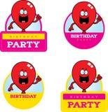 Cartoon Birthday Balloon Graphic Royalty Free Stock Image