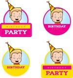 Cartoon Birthday Boy Graphic Royalty Free Stock Photos