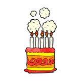 cartoon birthday cake Stock Images