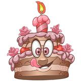 Cartoon Birthday Cake stock photo