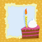 Cartoon Birthday cake card. Vector illustration Royalty Free Stock Photo