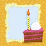 Cartoon Birthday cake card. Vector illustration Royalty Free Stock Photo