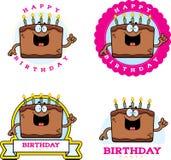 Cartoon Birthday Cake Graphic Stock Photos