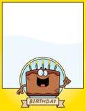 Cartoon Birthday Cake Graphic Royalty Free Stock Photos
