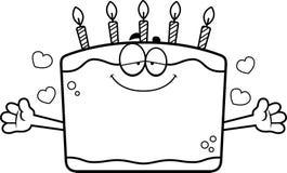 Cartoon Birthday Cake Hug Royalty Free Stock Photo
