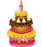 Cartoon Birthday cake Stock Photography