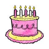 cartoon birthday cake Royalty Free Stock Photography