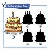 Cartoon birthday cake Royalty Free Stock Photo