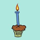 Cartoon birthday candle Stock Photos