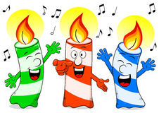 Cartoon birthday candles singing a birthday song Stock Photography