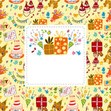 Cartoon birthday card Stock Image