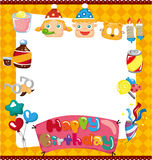 Cartoon birthday card Stock Photography