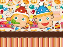 Cartoon birthday card Royalty Free Stock Photos