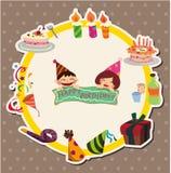Cartoon birthday card Stock Image