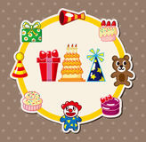 Cartoon birthday card Royalty Free Stock Images