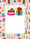 Cartoon birthday card Stock Photos