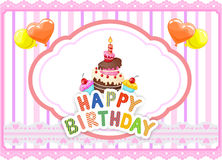 Cartoon Birthday card Royalty Free Stock Photography