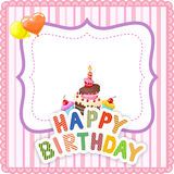 Cartoon Birthday card Royalty Free Stock Photo