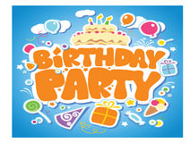 Cartoon birthday card Stock Images