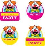 Cartoon Birthday Clown Graphic Royalty Free Stock Photo