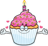 Cartoon Birthday Cupcake Hug Stock Photos